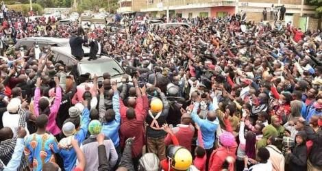 Deputy President William Ruto pictured addressing a roadside rally on Spetember 6, 2020