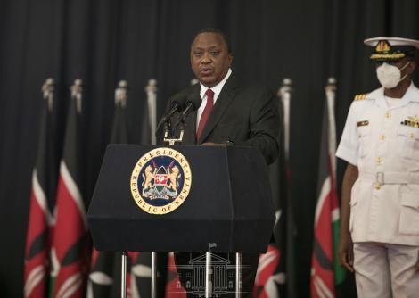 President Uhuru Kenyatta speaking during the National Covid19 Conference on September 28, 2020.