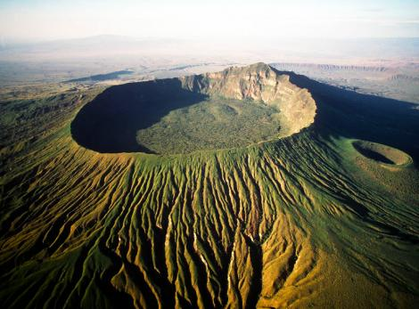 Menengai Crater in Kenya.