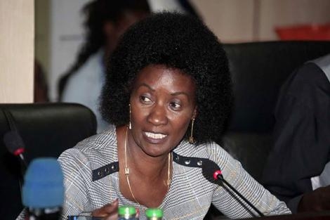 Teachers Service Commission (TSC) CEO Nancy Macharia addresses National Assembly's education committee on February 19, 2020.
