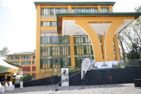 Nakuru Law Courts building opened by Chief Justice David Maraga on December 4, 2020