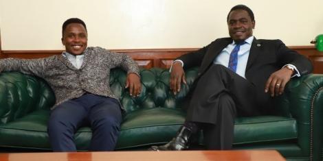 LSK President Nelson Havi with kenyagist.com journalist Kimani Mbugua