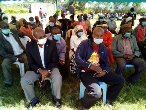 Residents of Ol Rongai, Kabazi and Subukia during a meeting with Geothermal Development Company (GDC) and NEMA on Friday 11, 2020.