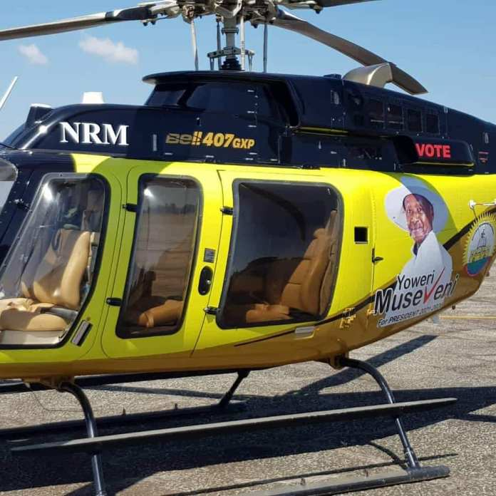 President Museveni brands new choppers for campaigns, to be assisted by his friend DP Ruto