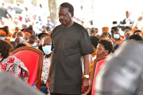 ODM leader Raila Odinga during a meeting with Mt Kenya elders at his home in Bondo, Siaya County on October 10, 2020