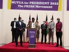 Former Water Cabinet Minister John Katuku issues an address during his unveiling as Maendeleo Chap Chap Party candidate for the Vacant Machakos Senate seat on December 23, 2020.