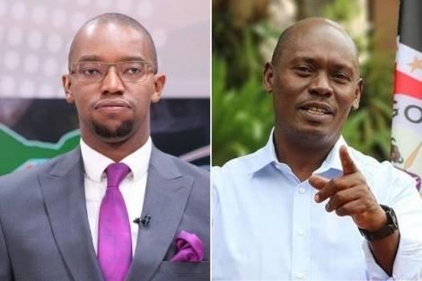 Citizen TV anchor Waihiga Mwaura and former Kiambu Governor William Kabogo.