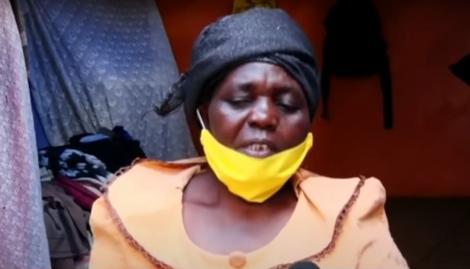 Kawangware resident Ruth Shiundu narrates her story to Citizen TV journalists on Wednesday, May 20, 2020.
