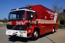 A fire engine truck.