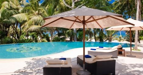 File image of a private infinity pool at Almanara Resort in Diani.