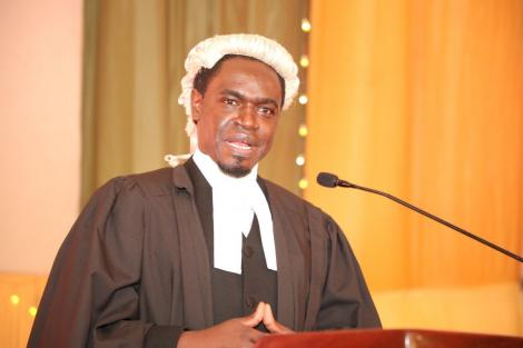 LSK President Nelson Havi speaking at a ceremony to admit lawyers to the bar on July 3, 2020