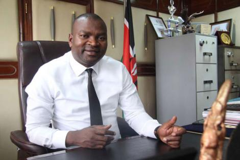 Former Sports Cabinet Secretary Rashid Echesa during an interview at the ministry's headquarters at Kencom Building in Nairobi, November 9, 2018.