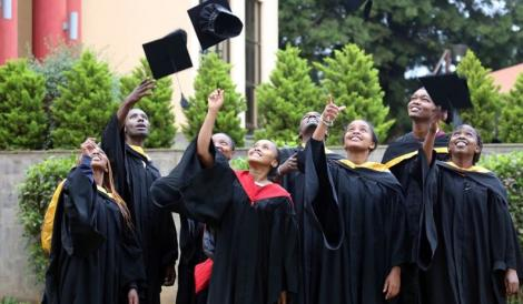 St Paul's University graduates in 2017. The institution was ranked third nationally by uniRank, a leading international higher education directory.