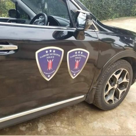 Vehicle branded Nairobi Metropol Police