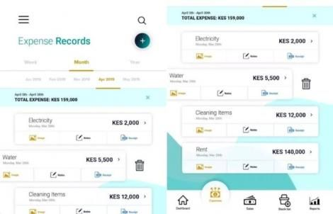 A screenshot of the Mhasibu app.
