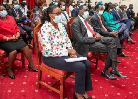 Beatrice Elachi during the swearing-in ceremoney at State House on February 19, 2020.