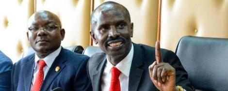 KNUT Secretary-General Wilson Sossion addresses journalists in Nairobi on May, 16 2019