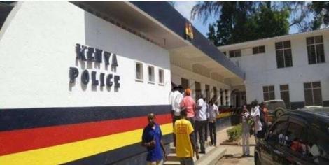 Entrance to a Kenya police station.