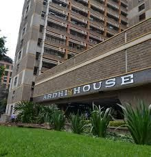 A photo of the Ministry of Lands and Physical Planning headquarters in Nairobi.