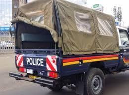 police car in a crime scene