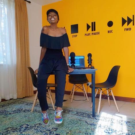 Adelle Onyango on the set of her Legally Clueless podcasts.