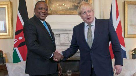 President Uhuru Kenyatta and UK Prime Minister Boris Johnson.