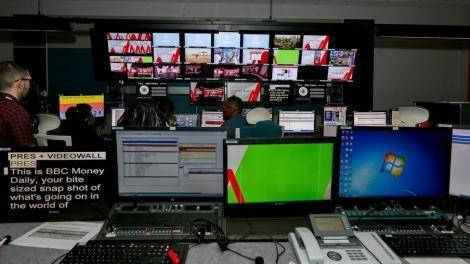 Jounalist at work inside BBC Gallery room at the Nairobi bureau