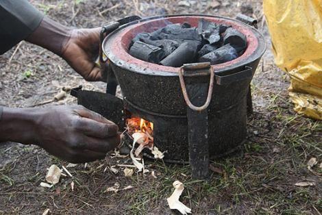 File image of a burning jiko