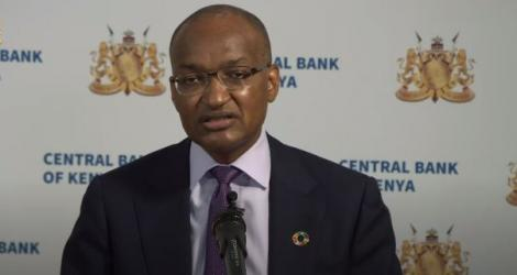 CBK Governor Patrick Njoroge speaking during a press conference on March 30, 2021