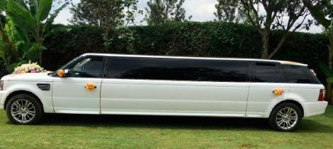 A Range Rover Sport limousine in Kenya