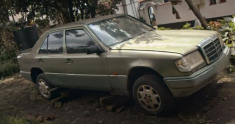 Nairobi Senator Johnson Sakaja's first car, a Mercedes Benz