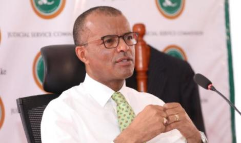 Senior Counsel Philip Murgor during the interviews for CJ on Friday, April 16, 2021.