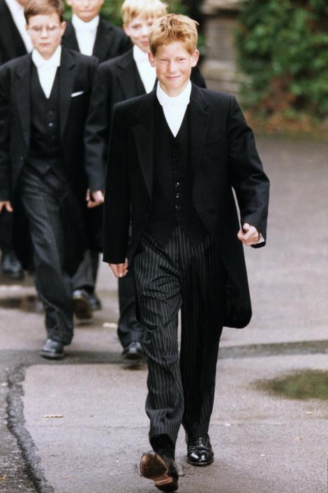 Prince Harry in a Eton College Uniform
