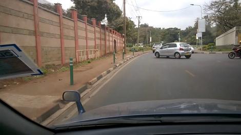 A dashboard shot of State House Road in Nairobi