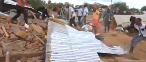 Residents during the demolitions in Embu county