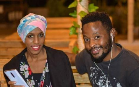 An undated file image of Comedians Nasra Yusuf and Rashid Abdalla.