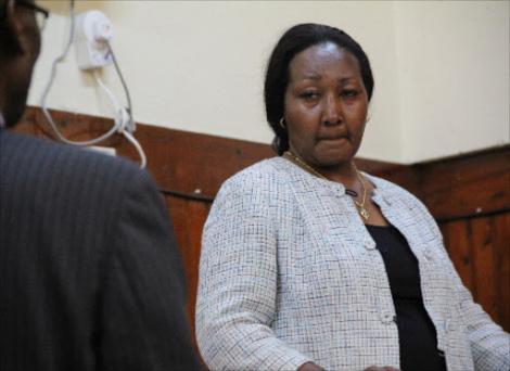 Daughter of the late Mbiyu Koinange Lannah Wanjiku