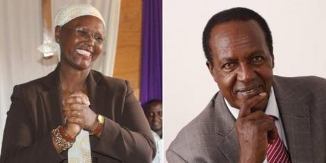The late Kiambaa MP Paul Koinange (R) and former wife June Koinange