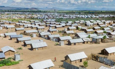 Aerial photograph of the Kakuma Refugee Camp.