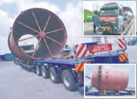 The wide load truck with it's oversize cargo