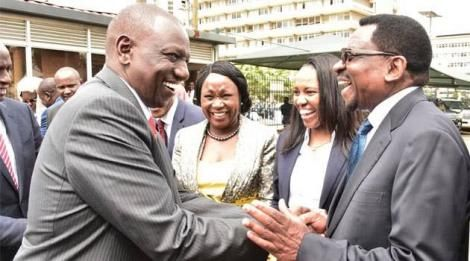 An image of Ruto and Orengo