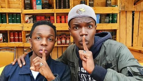 Machachari show actors Malik Lemmy (Govi) (L) and Tyler Mbaya (Baha) (R)