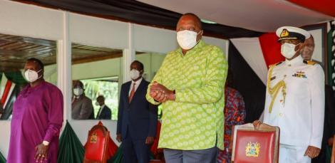 President Uhuru Kenyatta during the labour day celebrations on Saturday, May 1