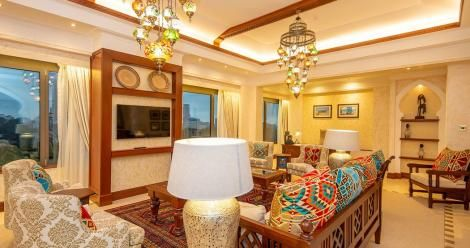 The lounge at the Serena Hotel Presidential Suite