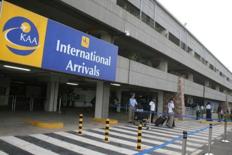 omo Kenyatta International Airport's international arrivals terminus.