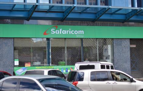 Safaricom Shop Along Kenyatta Avenue in Nairobi. Monday, October 21, 2019