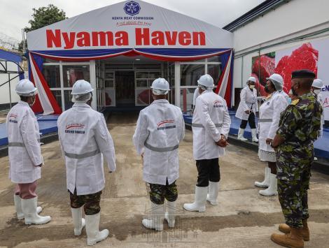 Entrance into Kenya Meat Commission Landhies Deport