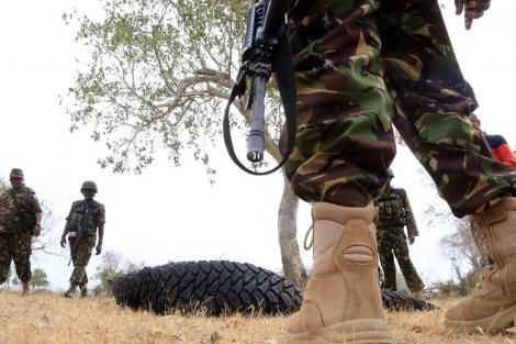KDF officers during a past operation