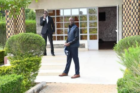 Raila Odinga junior paid a visit to Kapseret MP Oscar Sudi (left) on Wednesday, May 26.
