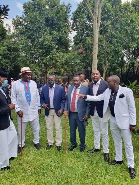 From left to right: Soy MP Caleb Kositany, Nandi governor Stephen Sang.Elgeyo Marakwet Kipchumba Murkomen and Kericho Senator Aaron Cheruiyot.